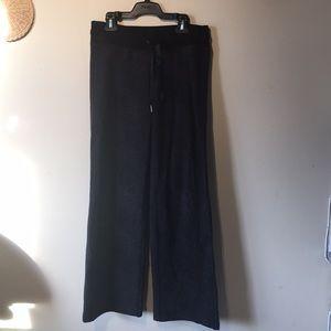 Lululemon size 6 flare bottom black pants.